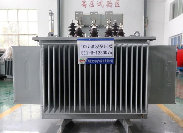 黄冈10kV油浸变压器S11-M-1250KVA